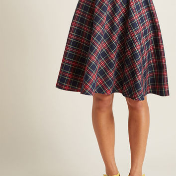 Swingy Skirt with Bow Waist