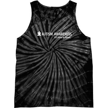 Buy Cool Shirts Autism Awareness Time to Listen Tie Dye Tank Top