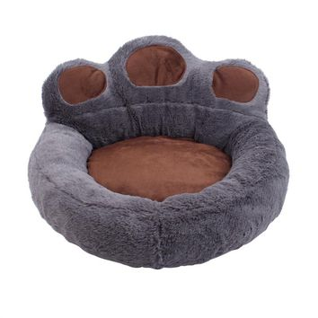 Bear's Paw Pet Dog Cat Bed House Soft Warm Kennel Nest Snuggly Pet Sleep Mat Sofa Teddy Doghouse for Small Dog Puppy Cat Kitten Size S 56 x 52 cm