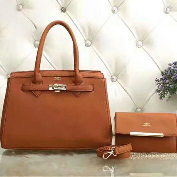 Hermes Women Shopping Leather Handbag Tote Satchel Shoulder Bag H-LLBPFSH