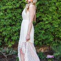 Madeline Bow Lace Maxi Dress