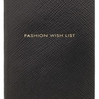Boutique 1 - SMYTHSON - Black Exclusive Fashion Wish List Notebook | Boutique1.com