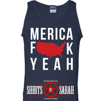 Merica F#!K Yeah Tank Top - Patriotic 4th July Tanks Independence Day America Men's Or Women's