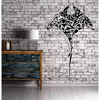 Manta Ray Ocean Marine Animal Collage Decor Wall Mural Vinyl Decal Sticker Unique Gift M427