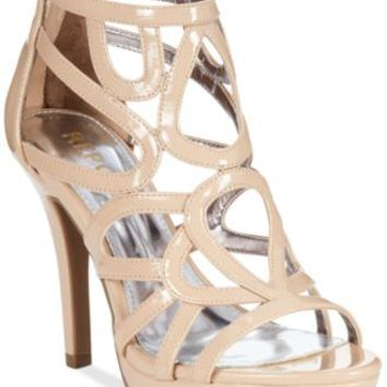 Report Rocko Caged Platform Dress Sandals | macys.com