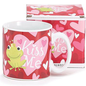 Kiss Me Frog Prince Valentine Mug With Gift Box