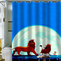 "hakuna matata curtain by holidayshowercurtain size 36"" x 72"", 48"" x 72"", 60"" x 72"" , 66"" x 72"""