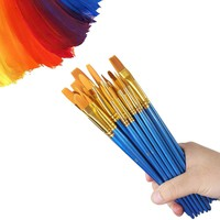 Paint Brush Set, 60 Pieces Nylon Hair Brushes for All Purpose Oil Acrylic Watercolor Painting, 10 Sizes Acrylic Paint Brushes for Artists/Painters/Beginners/Students/Kids