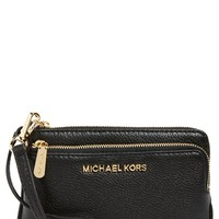 MICHAEL Michael Kors 'Small Bedford' Leather Wristlet | Nordstrom