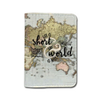 Travel Inspiration [Name Customized] Travel Leather Passport Holder - Passport Protector - Passport Cover - Passport Wallet_SUPERTRAMPshop (PPVA330)