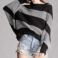 Two-Tone Stripe Sweater