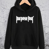 Purpose Tour Hoodie Justin Bieber Unisex Hoodies