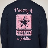 Army MilSO shirtsunisexyou pick writing color by craftybug20
