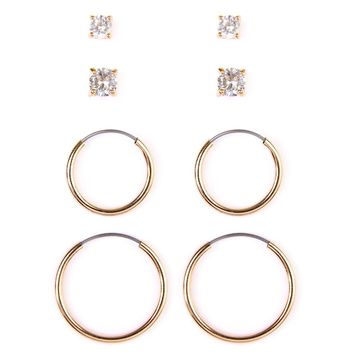 Hoop & Stud Earring Set