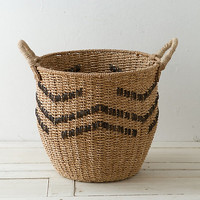 Chevron Sea Grass Basket