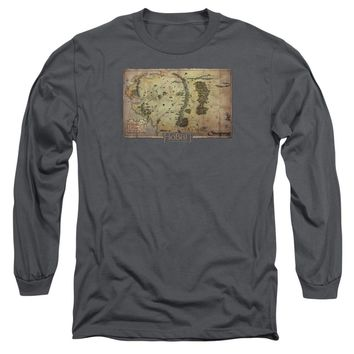 The Hobbit - Middle Earth Map Long Sleeve Adult 18/1 Officially Licensed Shirt