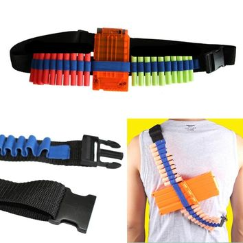 1pcs Adjustable Size Blue Toy Gun Bullet Shoulder Strap Darts Ammo Storage Holder For Nerf Soft Water Bandolier Toy Gun Supplies