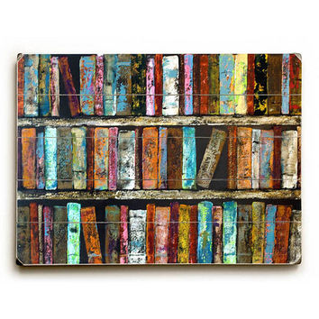 Books by Artist Laura Sue Peters Wood Sign