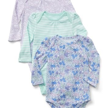 Cuddle & Play Print Bodysuit (3-Pack)|gap