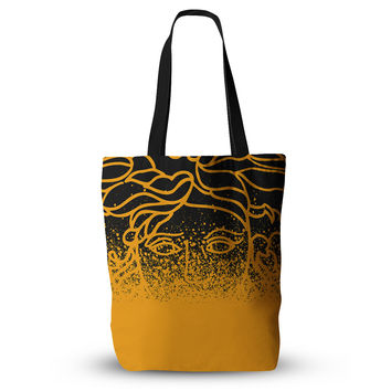 "Just L ""Versus Spray Blk Gld"" Abstract Illustration Everything Tote Bag"