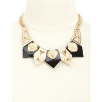 GEOMETRIC LION HEAD COLLAR NECKLACE
