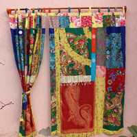 Boho Curtain Hippie curtain Gypsy Curtain Scarf Curtain Panel Patchwork Curtain EXPRESS SHIPPING