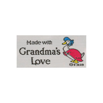 Labels, With Grandma's Love, 2 per pkg, woven labels, pre made labels for sewing, crafts and quilting
