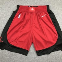 Men's Houston Rockets Basketball Red Black Sports Shorts - Best Deal Online
