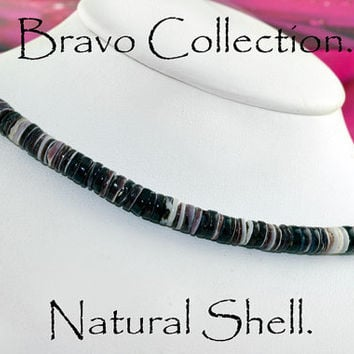 SH-101 Finely Crafted Black Lip Natural Shell New Surf Choker Men Necklace