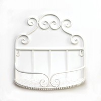Charming White Iron Wall Shelf