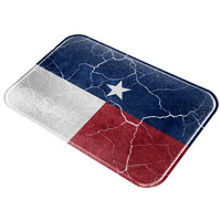 Distressed Vintage Texas Flag All Over Glass Cutting Board