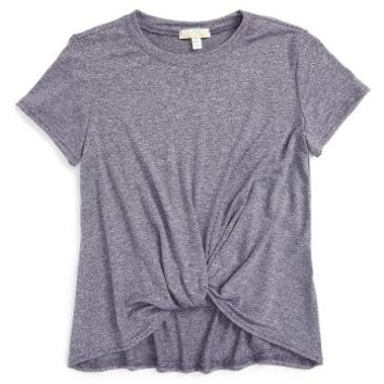 Love on Tap Knotted Tee (Big Girls) | Nordstrom