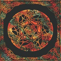 Colorful Celtic Star Tapestry