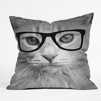 Allyson Johnson Hippest Cat Throw Pillow