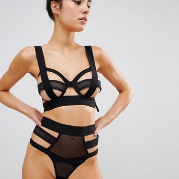 Bluebella Talisa Bra & Thong Lingerie Set at asos.com