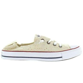 DCKL9 Converse All-Star Chuck Taylor Shoreline Slip - Off White Canvas Eyelet Cut-Out Slip-O