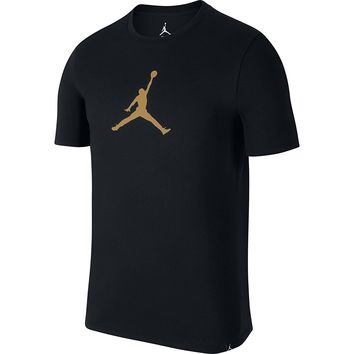 Jordan Jumpman 23/7 Men's Athletic Casual T-Shirt Black/Metallic Gold 925602-014