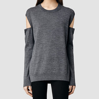 Womens Elion Sweater (Charcoal) | ALLSAINTS.com