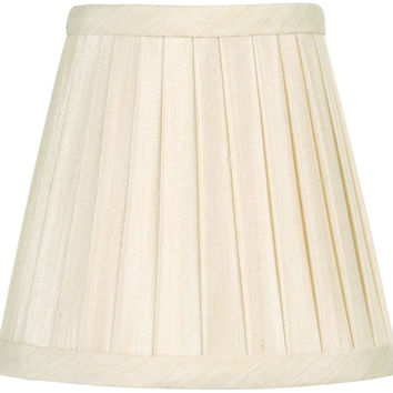 0-011459>3x5x4.5 Chandelier Empire Pleat Lamp Shade Off White