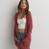 AEO TEXTURED HOODED CARDIGAN