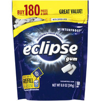 Walmart: Eclipse Winterfrost Sugarfree Gum Refill, 180 pieces, 8.8 oz