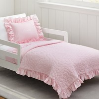 Ruffle Toddler Quilted Bedding | Pottery Barn Kids