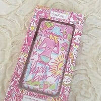NIB Lilly Pulitzer Kinis in the Keys Beach Bum iPhone 6 6S Hard Phone Case