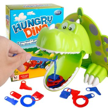 HIINST Creative Hungry Hunger Dino educational Jokes Mouth Dentist Bite Finger stimulate Game Joke Dinosaur Toy dropship CC#