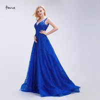 Beading Flowers Prom Dresses Sexy Deep V-Neck New A-Line Sweep Train Sleeveless Dresses Party Gowns for Woman