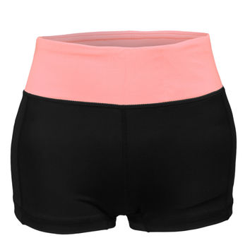LE3NO Womens Fitted Active Workout Yoga Shorts with Stretch (CLEARANCE)
