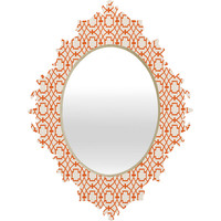 Caroline Okun Burnt Orange Umbria Baroque Mirror