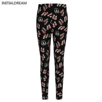 high quality sexy leggings women 2016 Floral Print Leggings stretch pants female wint