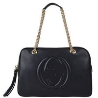 GUCCI Soho Leather Chain Bowling Bag - Flannels