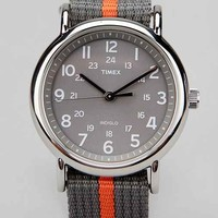 Timex Striped Band Weekender Watch-